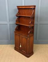 Charming Victorian Mahogany Waterfall Bookcase (10 of 12)