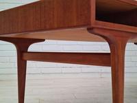 Danish Sofa Table, Teak Wood, Original Very Good Condition 1960s (5 of 16)