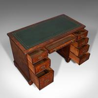 Antique Morning Room Desk, English, Walnut, Writing Table, Victorian c.1880 (7 of 12)