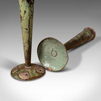 Pair of Antique Flute Vases, French, Copper, Posy, Art Nouveau Taste c.1920 (12 of 12)