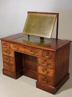 Fine George III Period Mahogany Kneehole Architects Desk (3 of 5)