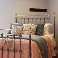 Decorative Antique Bed in Blue Verdigris (2 of 9)