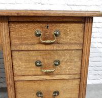 19th Century Oak Pedestal Desk (8 of 8)