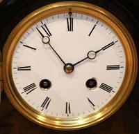 Small Victorian Burr Walnut Mantel Clock (9 of 10)