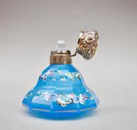 Exquisite Victorian Silver Gilt Enamelled Opaline Glass Scent Bottle c.1870 (5 of 7)