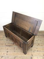 Early 20th Century Antique Carved Oak Blanket Box (6 of 9)