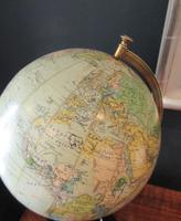 "1920's 8"" Papier Mache Terrestrial Globe (4 of 7)"