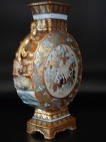 Late 19th Century Kutani Porcelain, Moon Shaped Vase (5 of 6)