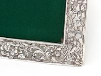Antique Square Silver Frame with a Cartouche Depicting Females and Horses (3 of 7)
