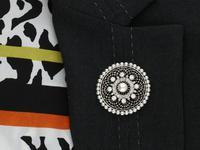1.38 ct Diamond and Seed Pearl, Platinum Pendant / Brooch - Antique Italian Circa 1900 (10 of 12)