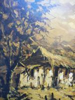 Large oil on canvas The Plantation Brazilian artist Chediac (3 of 10)