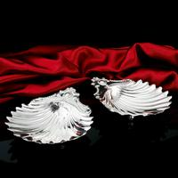 Antique Victorian Solid Silver Pair of Butter Dishes, Shell Design - Josiah Williams & Co 1894 (8 of 13)