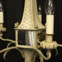 English 5 Light Polychrome Pagoda Chandelier (2 of 10)