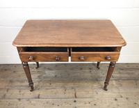 Victorian Mahogany Two Drawer Side Table (4 of 9)