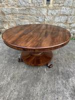 English Regency Rosewood Round Centre Table (5 of 7)