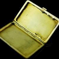 English Solid Silver Enamel Cigarette Case with Landscape Scene - A.J.P London 1927 (9 of 14)