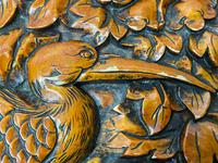 Chinese Camphor Wood Carved Birds & Flowers Chest Coffee Table (12 of 34)