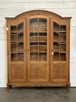 French 3 Door Oak Bookcase or Cabinet (2 of 15)