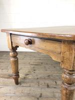 Victorian Antique Pine Farmhouse Kitchen Table (10 of 15)