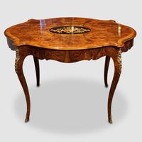 Victorian Inlaid Walnut Centre Table with Drawer (9 of 9)