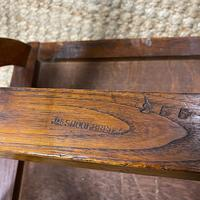 Quality Pair of Oak Hall Chairs by Shoolbred (3 of 7)