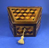 Victorian Tunbridge Ware Stationery Box (5 of 9)