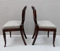 Pair of Regency Simulated Rosewood Chairs Attributed to Gillows (7 of 9)