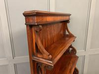 Charming Victorian Mahogany Waterfall Bookcase (7 of 12)