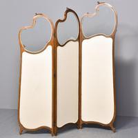Louis XVI Style Mahogany Folding Screen (10 of 10)
