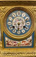 Fine Quality French Ormolu & Porcelain-mounted Mantel Clock by J.B. Delettrez (2 of 5)