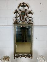 Beautiful Large Green & Gilt Wall Mirror (9 of 9)
