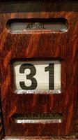 Antique Edwardian Polished Oak Perpetual Desk Calendar (6 of 7)