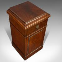 Tall Antique Side Cabinet, English, Mahogany, Bedside, Nightstand, Regency, 1820 (11 of 12)