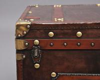 20th Century Leather Bound ex Army Trunk (11 of 13)