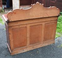 1900's Large Carved Mahogany 3 Door Sideboard with Back (4 of 4)