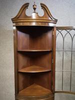 Reproduction Mahogany Corner Cabinet / Corner Cupboard (6 of 8)