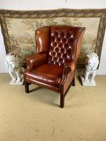 Georgian Style Leather Wingback Armchair (2 of 5)