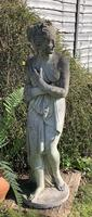 Weathered Patinated Garden Statue the Bath of Venus (5 of 6)
