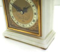 Solid Marble Vintage Mantel Clock Caddy Top Bracket Clock by Elliott of London (2 of 5)