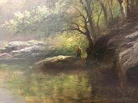 George Henry Jenkins 'A Devon River Landscape' Oil on Canvas Painting (7 of 12)