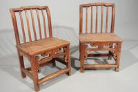 Attractive Pair of Early 20th Century South Chinese Elm Chairs (3 of 3)