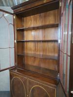 Georgian Style Mahogany and Satinwood Banded Bookcase (6 of 10)