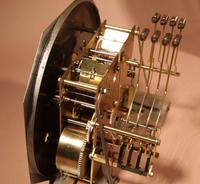 A vedette plain very stylish art deco westminster carillon walnut wall clock french circa 1935 (4 of 15)