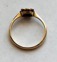 18ct Gold Platinum Art Deco Sapphire & Diamond Ring Size M.5 (15 of 16)
