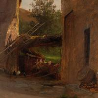 Frederik Rohde, Rural Scene With Chickens, Landscape Painting (3 of 7)