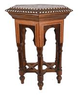 Damascan Side Table Octagonal Arabic Interiors Inlay (5 of 10)
