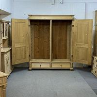 Very Large Antique Pine Wardrobe - dismantles (j0400f) (2 of 6)