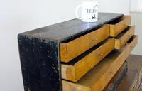 Vintage Black Painted Carpenters Tool Drawers (5 of 8)