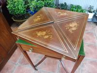 Maple & co Mahogany Inlaid Card Table / Games Table (7 of 14)
