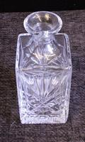 Vintage Cut Glass Square Decanter (7 of 7)